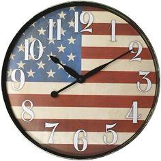 WESTCLOX 32897AF 12 American Flag Wall Clock