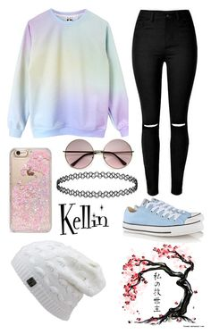 """""""Untitled #105"""" by bandsdestroyamylife on Polyvore featuring Converse and Skinnydip"""