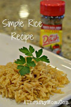 mrs dash rice recipe