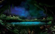 Mystical Fantasy | Mystic Lake, abstract, fantasy, forest, lake, night, wallpaper