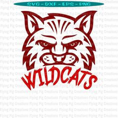 Excited to share this item from my shop: Wildcat Wildcats Country Football Basketball Baseball Softball Mascot Mom Dad Face - SVG dxf eps png clipart cut print cricut cuttable file Football And Basketball, Softball, Baseball, Football Signs, Soccer, Pendleton Shirts, Sport Craft, Flying Pig, Mom And Dad