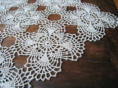 Easy Lace Crochet Table Runner | Request a custom order and have something made just for you.