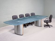 White glass top conference tables and contemporary boardroom white glass top conference tables and contemporary boardroom furniture with wiring grommets and stainless steel bases hand built to order in the u dream keyboard keysfo Choice Image