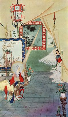 The annunciation -If Jesus Was Chinese: 8 Beautiful Paintings of the Life of Our Lord Christian Paintings, Christian Art, Catholic Art, Religious Art, Chinese Painting, Chinese Art, Chinese Style, Jesus Calms The Storm, Bible In A Year