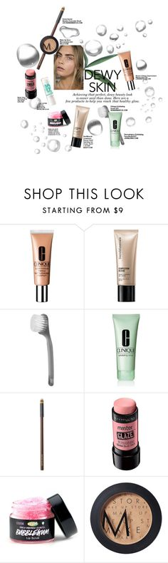 """""""Dewy Makeup Contest"""" by sydneysd ❤ liked on Polyvore featuring beauty, Clinique, Bare Escentuals, Dermalogica, Kevyn Aucoin, Maybelline and MAKE UP STORE"""