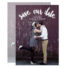 Cute Curved Text Photo Save the Date Postcard Save The Date Invitations, Save The Date Postcards, Save The Date Cards, Wedding Invitations, Custom Postcards, Custom Invitations, Wedding Stationery, Invites, Modern Save The Dates