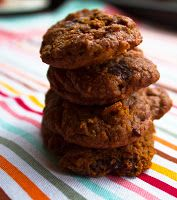 Sweet Potato Chocolate Chip Cookies. These cookies are grain-free, dairy-free and refined-sugar free.