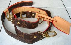 Louis Vuitton dog collar.. I want this for stoli he would love it
