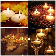 #Decorate your abode graciously with #floating_candles that can take your breath away. http://www.auroshikha.com