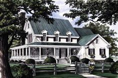 Farmhouse House Plan chp-47778 at COOLhouseplans.com