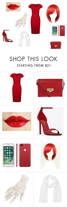 """""""madame red cosplay / black butler cosplay/ kuroshitsuji"""" by lps-angelina on Polyvore featuring Roland Mouret, Lodis, Yves Saint Laurent, Black and Betsey Johnson"""