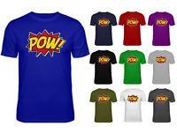 Mens Pow Comic Super Hero Cartoon Retro Slogan T-shirt NEW S-XXL