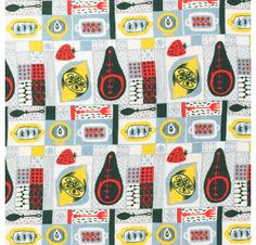 Mid-Century food pattern from V & A Patterns