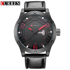 Curren Brand Men Fashion Casual Watches Men Sport Military Quartz Analog Date Clock Man men Wristwatch leather - Online Shopping for Watches