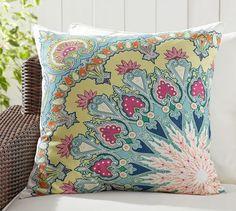 "Valencia Paisley Print Indoor/Outdoor Pillow - 24"" | Pottery Barn"