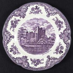 "Johnson Brothers China - Old Britain Castles in Lavender/Mulberry  I grew up with these dishes, so they say ""home"" to me. I wish I had kept more of them when we cleaned out my parents' house. This is where my love for transferware began."