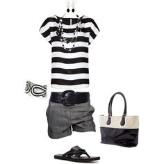Cute, cute, cute. Kind of has a nautical feel to it:) Black & White is always chic.