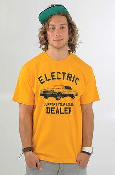 Electric Dealer Custom t-paita Yellow 19,90 € www.dropinmarket.com