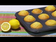Madlene / Briose cu Lamaie - YouTube No Cook Desserts, Desert Recipes, Deserts, Muffin, Cupcakes, Cookies, Breakfast, Romania, Youtube