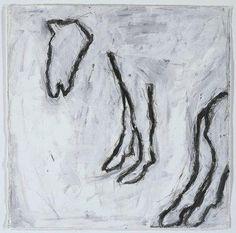 Rothenberg, Susan (1945-) Untitled
