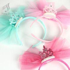 5 pcs New Solid Pearl Princess Queen Crystal Hairband Headband