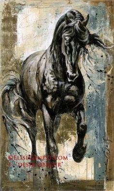 Élise Genest, artiste peintre - Peinture sur toile et dessins de cheval, chevaux