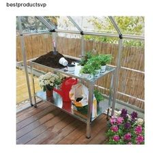 #Ebay #Steel #Work #Bench #Silver #Greenhouses #Durable #Rust #Proof #Shelves #Adjustable #Shelf