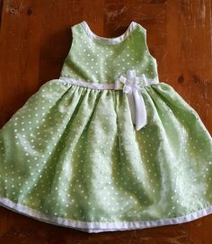 Youngland girls 4T green/white polka dot formal spring party sleeveless dress  #Youngland #Formal