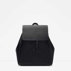 BACKPACK WITH FOLDOVER FLAP - Bags - TRF | ZARA United States