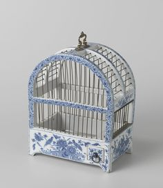 Blue China Porcelain Birdgage