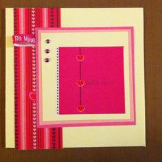6 by 6 hand made card