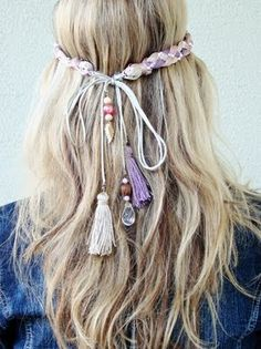 """Little tassels and beads on the ends of that haedband make it soo boho chic (definitely a """"younger days"""" thing for me!)"""