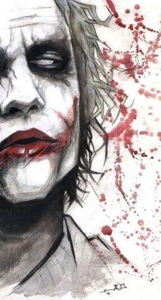 Joker - OK so not part of the Marvel universe, but I don't care. I always loved the Joker. Der Joker, Heath Ledger Joker, Joker Art, Character Drawing, Comic Character, Comic Books Art, Comic Art, Héros Dc Comics, Joker Kunst