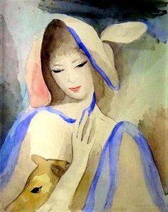 Marie_Laurencin ~ L'écharpe bleue