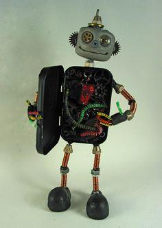 Altoid box robot- fun project! by Kathy Davis