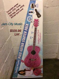 Daisy Rock Pixie Acoustic Pixie 6205 Starter Guitar Pack DVD Tuner Pink Sparkle | eBay