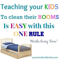 Teaching a child to keep their room clean