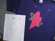 My Kid's Drawing Made into a TShirt by ShopMelissa on Etsy, $20.00