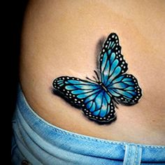 Learn more about >> Lifelike color butterfly tattoo finished by Brandon Marques. Timeless Tattoo Studi...