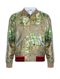 Gucci  Veste en soie réversible imprimée                                                                                                                                                                                 Plus