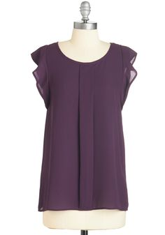 Always Approachable Top in Purple. Between the smile on your face and this airy, ModCloth-exclusive purple tank on your frame, you can expect to be complimented on your cheerful demeanor. #purple #modcloth