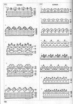 Easiest Crochet Frills Border Ever! Crochet Edging Patterns, Crochet Lace Edging, Unique Crochet, Crochet Borders, Crochet Diagram, Crochet Chart, Thread Crochet, Beautiful Crochet, Easy Crochet