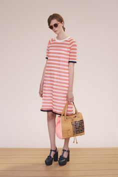 Orla Kiely spring 2015 lookbook #dress #stripes