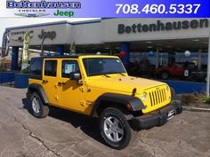 New 2015 Jeep Wrangler Unlimited Unlimited Sport in Baja Yellow for sale in Orland Park - Bettenhausen Chrysler Jeep - Orland Park Illinois