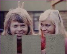 The ABBA members in love! Pictures taken in Vallentuna in the summer of 1974.
