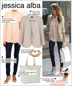 Jessica Alba's outfit is tooo chic and simple!