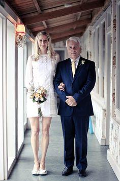 short BHLDN wedding dress