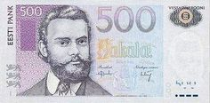 estonia currency | Country: Estonia Currency: Kroon Above Note: 500 Kroons