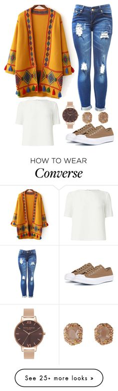 """""""Untitled #9426"""" by beatrizibelo on Polyvore featuring WithChic, Miss Selfridge, Converse and Olivia Burton"""