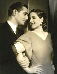 Norma Shearer Clark Gable Strange Interlude 1932 ~ This is the first film in which Gable's trademark mustache appears. (IMDB)